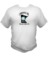 I Survived The Polar Vortex Extreme Weather Graphic T Shirt Red White L ... - $19.99