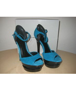 Jessica Simpson Shoes Size 8.5 M Womens New Casper Emerald Suede Open To... - $53.51