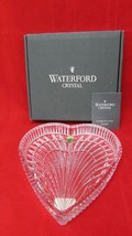 """Vintage Waterford Cut Lead Crystal Heart Shaped Vanity Tray Candy Dish 7.5"""" - $59.40"""