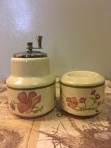 Vintage Lenox Temperware Summer Wind Salt Shaker and Pepper Mill Cottage... - $14.00
