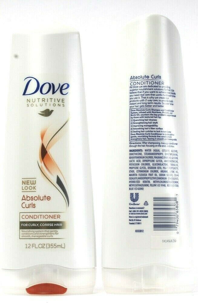 2Dove Nutritive Solutions Absolute Curls For Curly Coarse Hair Conditioner 12Oz  - $21.99
