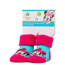 Minnie Mouse One Pair of Baby Booties 0-12 Months - $6.50