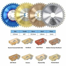Circular Saw Blade Wood Carbide Cutting Discs Nano Coated TCT Woodworkin... - $14.45+
