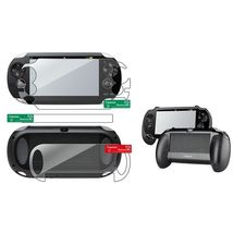 Clear Full Body Screen Protector+Black Hand Grip For Sony Playstation PS... - $26.00