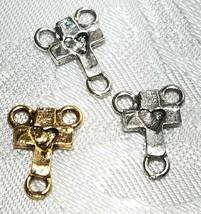 3pcs. - 3 Loop Cross Connectors Rosary