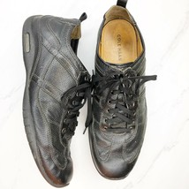 Cole Haan NikeAir Black Soft Leather Lace Up Sneakers Shoes Men's 11M - $28.85