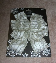 Jaclyn Smith Collection Winter Woodland Tree Topper Bow - $6.50