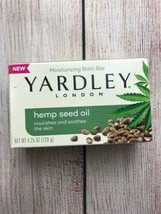 Yardley London Bath Bar Soap 4.25 oz Moisturizing Hemp Seed Oil New - $5.94