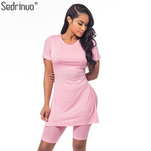 Sedrinuo Casual Style Women's Two Pieces Outfits Short Sleeve Rompers Ju... - $28.00