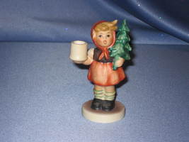 "M. I. Hummel ""Girl with Fir Tree"" Candle Holder Figurine by Goebel. - $40.00"