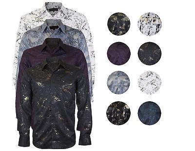 LW Men's Classic Western Cowboy Long Sleeve Modern Stylish Rodeo Dress Shirt