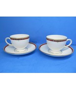 Wedgwood Colorado Leigh Shape Footed Cup & Saucer Sets Bundle of 2 sets - $48.02