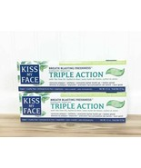 Kiss My Face Triple Action Cool Mint Gel Toothpaste 4.5 oz Vegan Sealed ... - $38.49