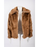 Abercrombie & Fitch Womens Faux Fur Jacket Coat Sz S Brown Open Front NWT  - $98.01