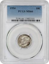 1954 10c PCGS MS66 - Roosevelt Dime - $29.10