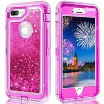 iPhone 6 7 8 liquid glitter defender case Pink color - $9.89