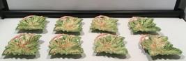 8 Green leaf hors d' oeuvres snack dessert appetizer plates - $59.35