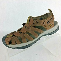 Keen Whisper Brown Leather Water Sport Hiking Fisherman Sandal Womens Size 7.5 - $18.49