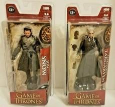 Game of Thrones Jon Snow & Daenerys Targaryen Action Figure HBO McFarlan... - $37.82