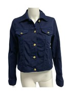 Michael Kors women's jean jacket button front navy blue front size S - $49.39