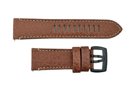 Luminox Valjoux Field Chrono 1867 26mm Watch Band Strap Dark Brown Leather  - $69.95