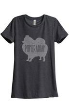 Thread Tank Pomeranian Dog Silhouette Women's Relaxed T-Shirt Tee Charcoal Grey - $24.99+