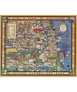 """1931 Gangster Map 16""""x20"""" Chicago Gangland from Authentic Sources Poster Print - $16.34"""