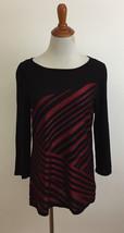 Dana Buchman Striped Knit Top sz Medium - $19.79