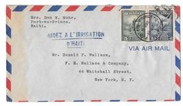 1948 Haiti Air Mail Cover Port au Prince to US Sc# 371 374 Aidez a L'Irr... - $4.99