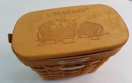 VTG Longaberger 1995 Dresden Basket with Lid Bundle Preowned vintage - $14.85