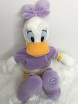 "Disney Store Daisy Duck Lavender Stuffed Plush 17"" image 1"