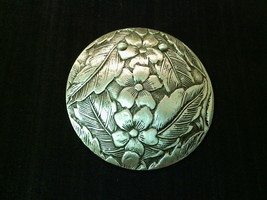Floral Engraved Vintage Brooch Pin Gift With Purchase  - $0.00