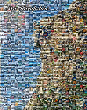 NEW HAMPSHIRE OLD MAN OF THE MOUNTAIN PHOTO MOSAIC PRINT ART - $27.00+