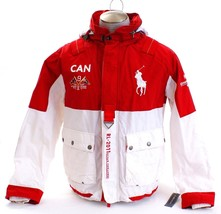 Polo Ralph Lauren Red & White Canada Ocean Challenge 2011 Jacket Men's NWT - $299.99