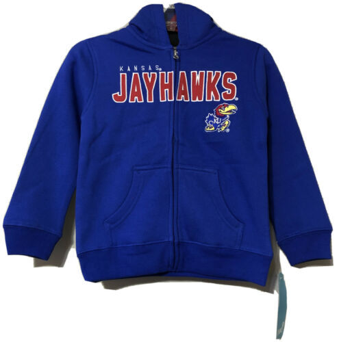Primary image for Gen2 NCAA Kansas Jayhawks Youth Blue Embroidered Hoodie Jacket Size 5/6 New
