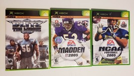 MICROSOFT XBOX - Lot of 4 Sport Madden & NCAA 2005 & Blitz the League To... - $9.85