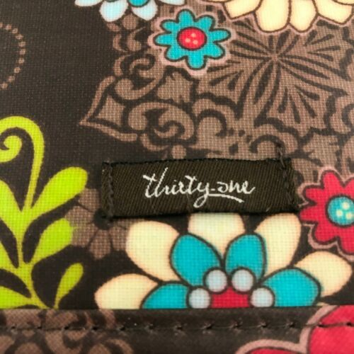 Thirty-One Floral Folding Cosmetic Organizer Make-Up Travel Case image 3