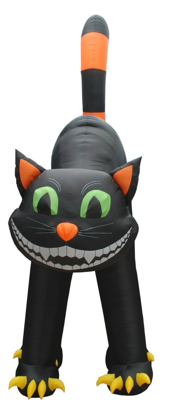 20 FOOT Animated Lighted Jumbo Halloween Inflatable Black Cat Yard Decoration image 2