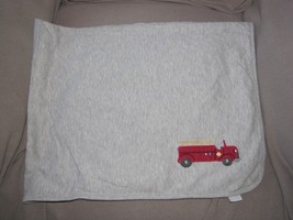 Gymboree 2003 LITTLE FIRETRUCK Blanket Reversible Fire Truck Engine Stri... - $32.66