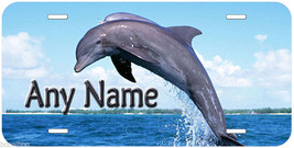 Dolphin Personalized Any Name Aluminum Car License Plate - $14.80