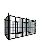 Pet Fence for Medium and Large Dogs — 6 pet cage Plates, pet Fence, Squa... - $238.99