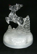 Rudolph The Red Nosed Reindeer Glass Music Box by The Rudolph Company ©2000 - $13.98