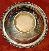 Vintage ONEIDA Silversmiths Silver Plated Footed Nut Candy Serving Bowl Dish image 5