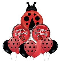 Ladybug Happy Birthday Mylar Balloon Bouquet - $22.01