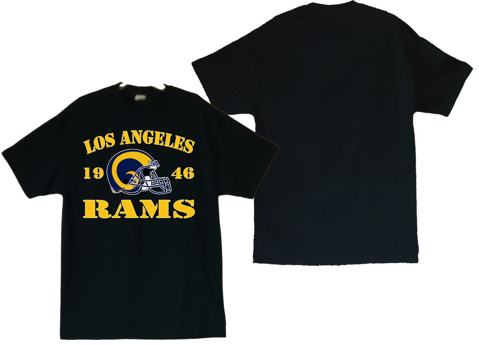 Primary image for Los Angeles Rams 1946 Men's Black T-Shirt Sizes (S thru 4XL)