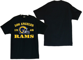 Los Angeles Rams 1946 Men's Black T-Shirt Sizes (S thru 4XL) - $20.78+