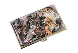 Business card case Mother of pearl Name card case Name card holder Tiger... - $26.90