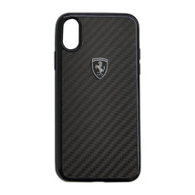 Ferrari Heritage Real Carbon Hard Case For iPhone X  Silver or Black Fre... - €45,30 EUR