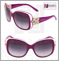 BVLGARI GIARDINI ITALIANI 8172B Pink Fuchsia Gold Square Flower Sunglass... - $187.11