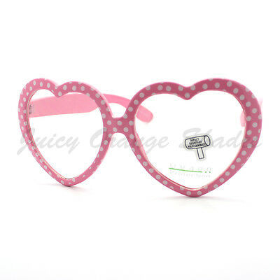 Heart Shape Love Eyeglasses Clear Lens Fashion Polka Dot Prints Frames